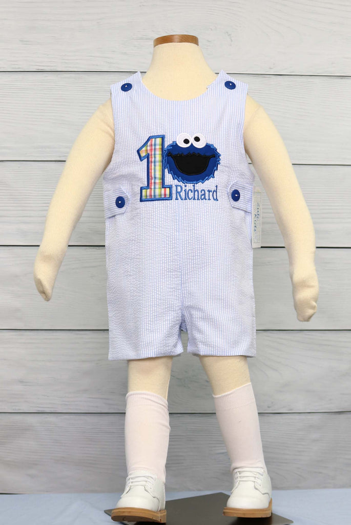 Cookie Monster 1st Birthday Outfit