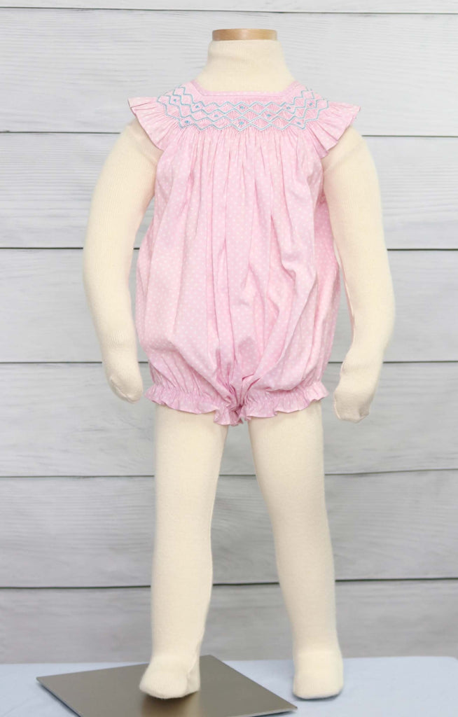 Baby girl bubble romper