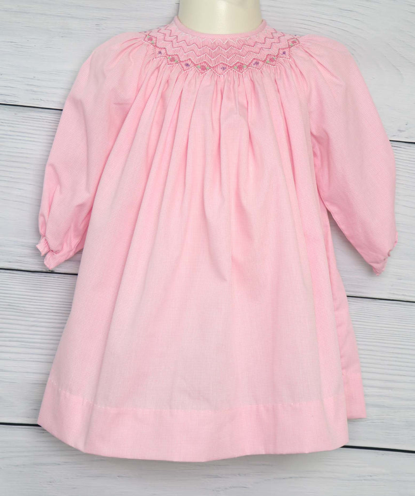 Long Sleeve smock dress, Baby Girl Clothes