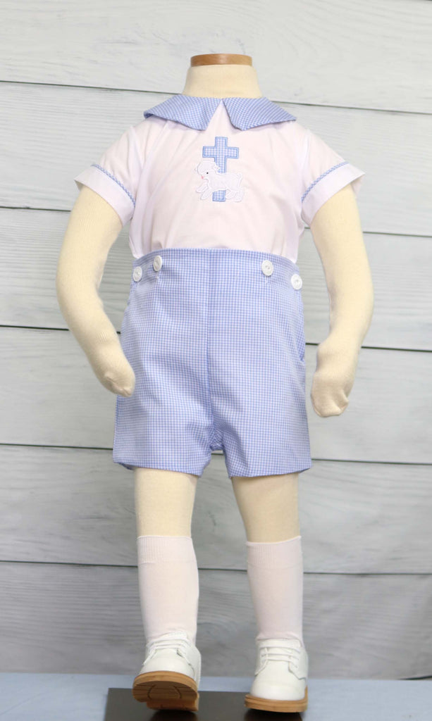 Infant boy baptism outfit