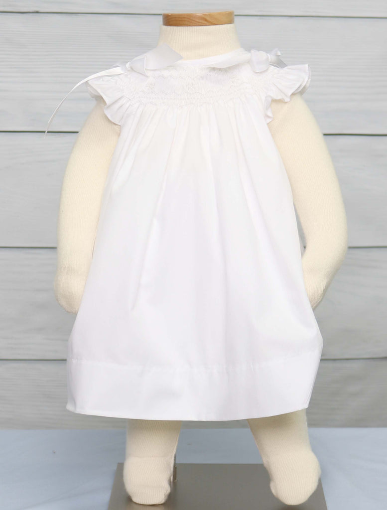 Baby Girl Baptism Dress, Infant Girl Christening Dress, Baby Girl White Dress, 412598 -CC081