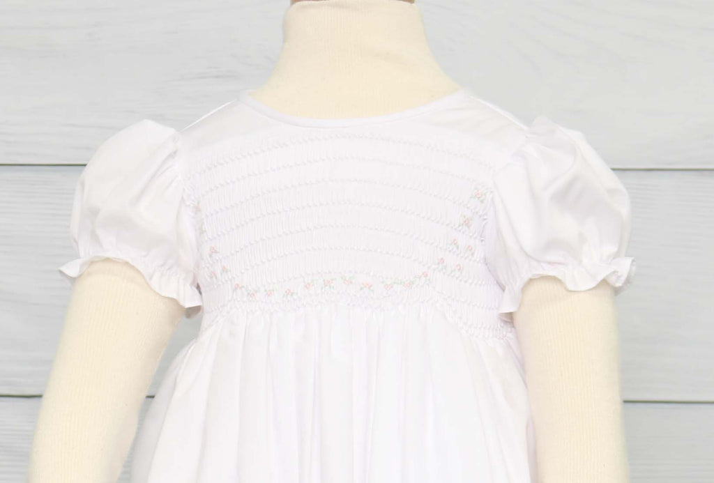 Toddler Flower Girl Dress, Smocked Dresses Baby Girl, Zuli Kids 412608 - CC174