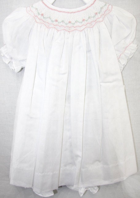 baby girl smocked dress, smocked baby clothes