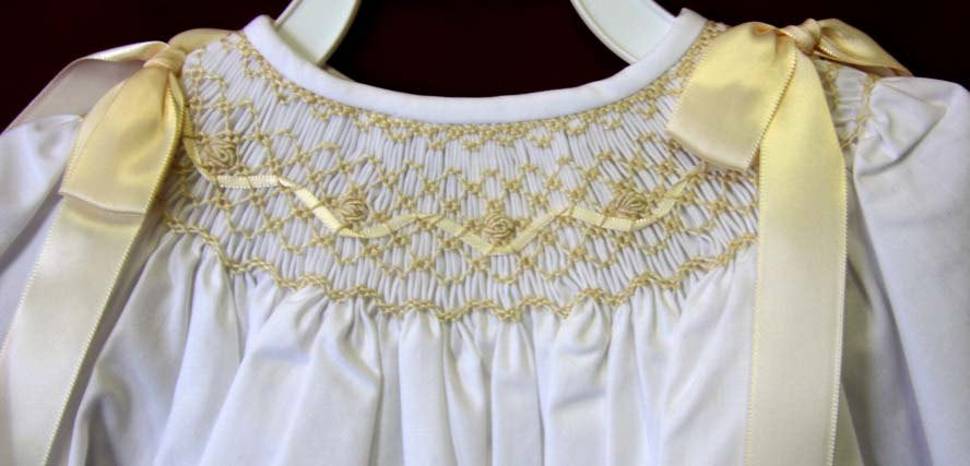 Long sleeve christening dress
