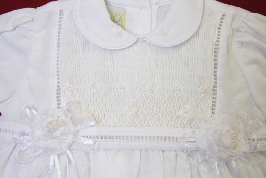 Baby girl white baptism dress
