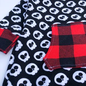 Beatbox Romper - Skulls & Plaid - 9/12 month