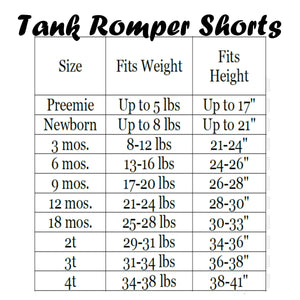 Tank Romper Shorts - Black Space