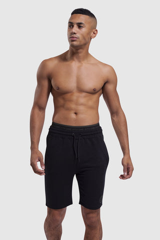 gym Shorts - Bedford Double Waistband (Black)