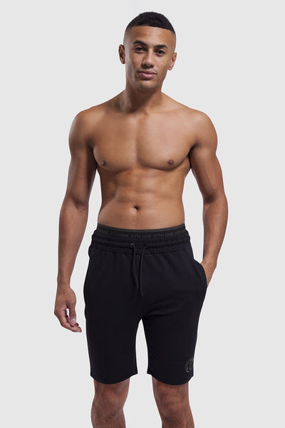 Bedford Double Waistband Shorts - Black