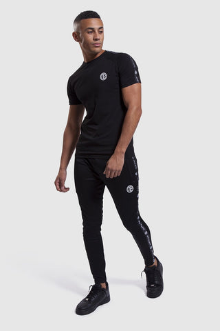 mens Firestone II black gym joggers