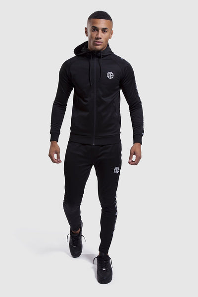 mens Firestone II black tracksuit