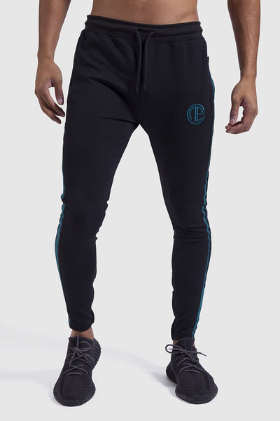 Black & teal Firestone Poly gym joggers