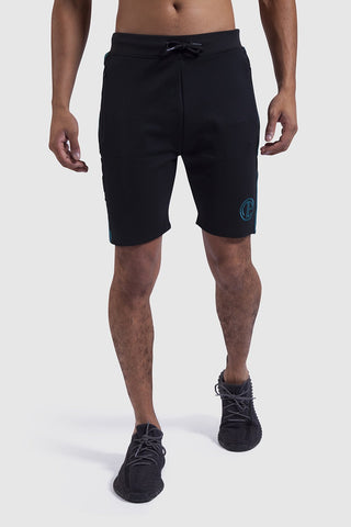 Mens firestone shorts in Black/Teal