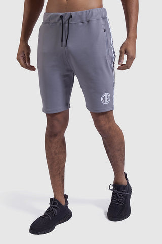 Mens Firestone gym shorts in grey/white
