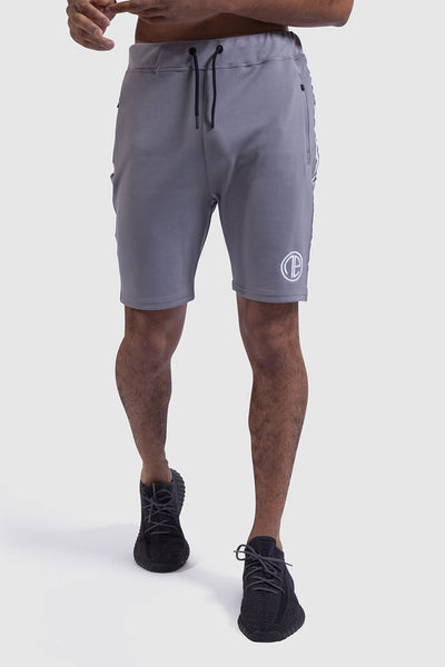 grey/white mens gym shorts - Firestone