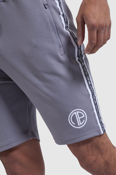 Firestone detail in the mens gym shorts - grey/white