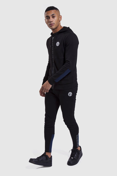 Mens black track hoodie and gym joggers