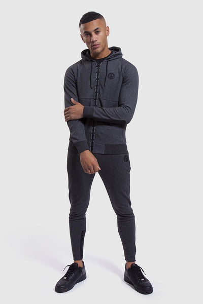 mens Iverson II gym joggers and hoodie in charcoal