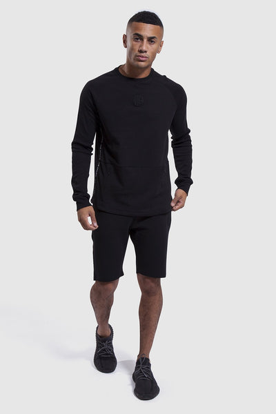 Black Iverson II shorts and long sleeve top