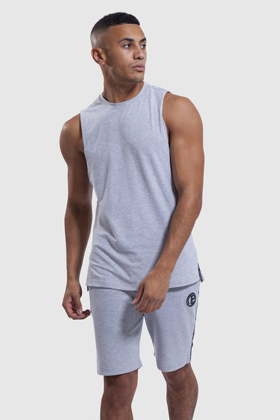 Iverson gym shorts and gym vest in grey