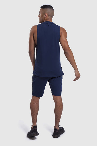 Navy Iverson II mens gym Shorts
