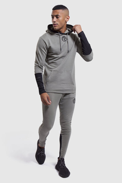 Gym joggers and hoodie for men in khaki