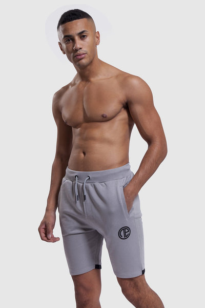 mens gym shorts in grey (One Athletic)