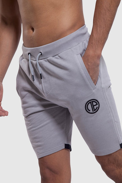 Branding detail of Iverson gym shorts for men