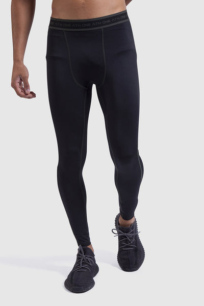mens black sports leggings