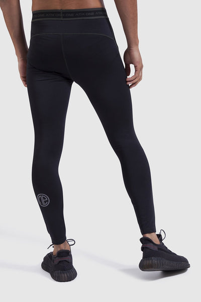 reflective logo on sports leggings for men