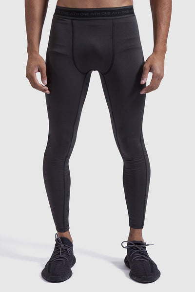 Khaki sports leggings for men