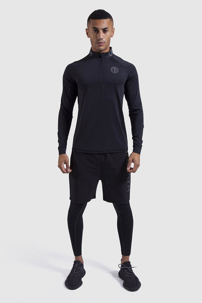 Mtech Run 1/4 Zip - Black