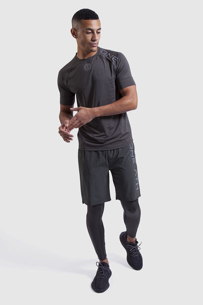 Mens training top in Khaki with matching shorts and leggings