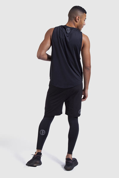 training vest, shorts and leggings in black