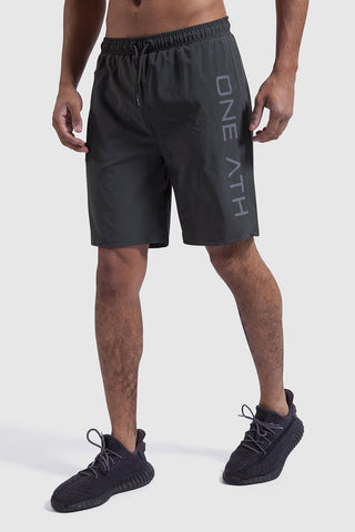 mens training shorts in khaki