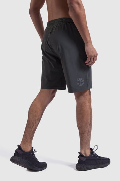 khaki training shorts made by One Athletic