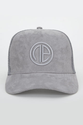 Suede Trucker Cap - Grey