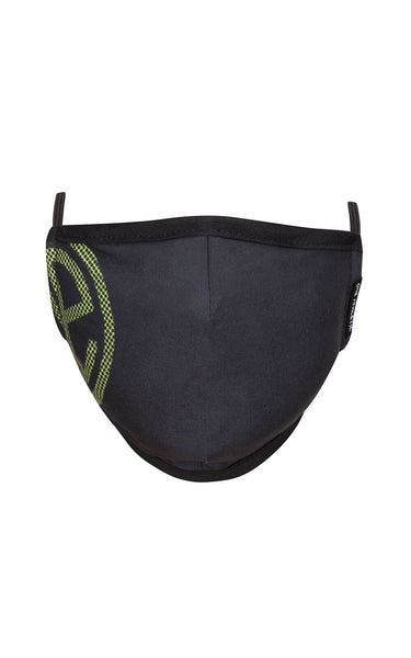 Face Mask - Black/Lime Green
