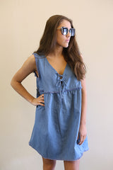 Tied Denim Tunic
