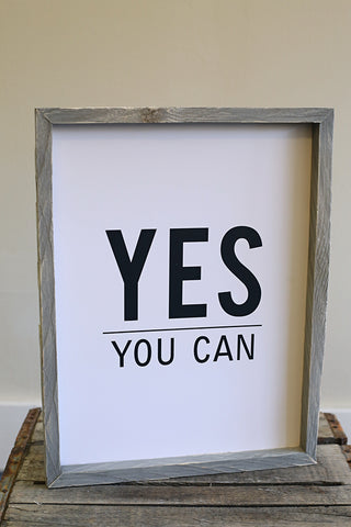 Sign - Yes You Can