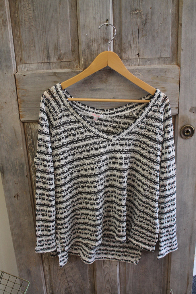 Patterned Slub Knit