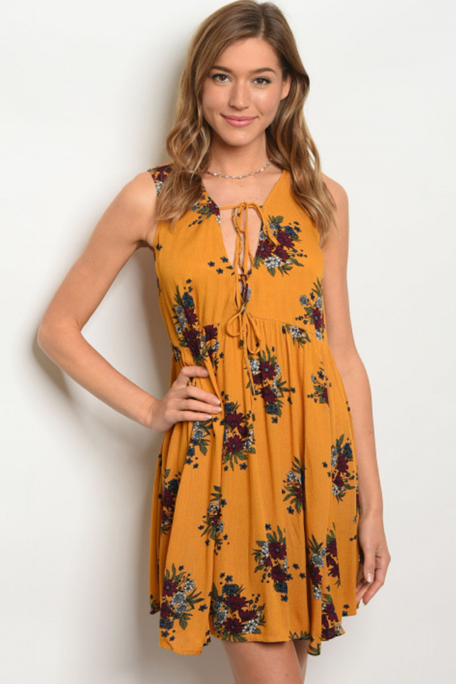 Mustard Floral Tunic