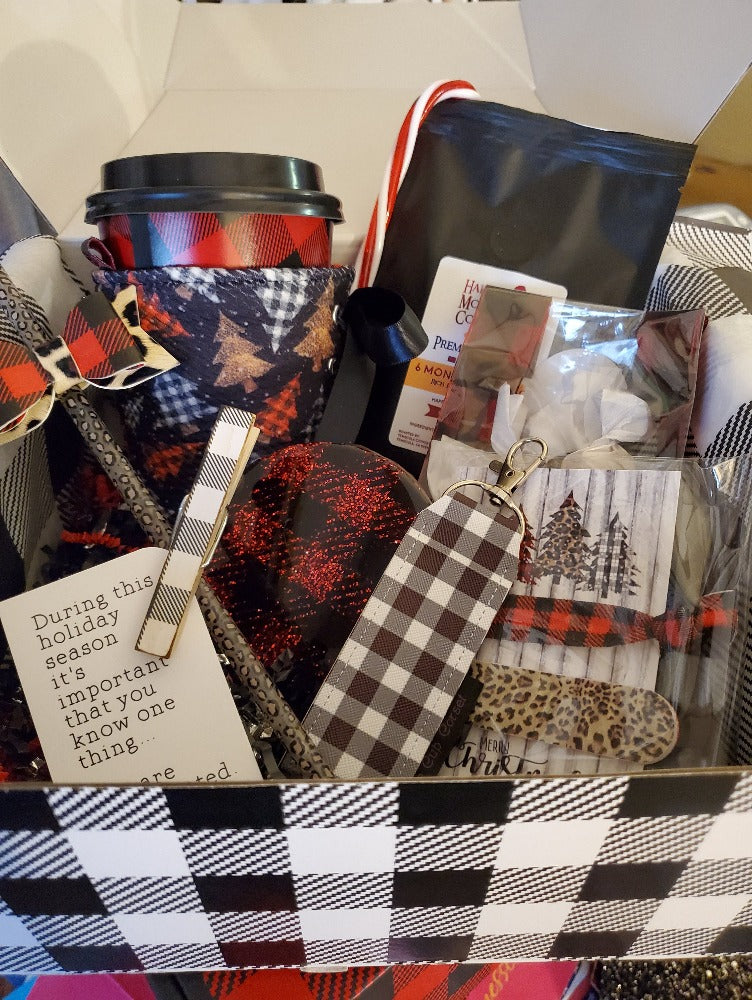 Buffalo Plaid Leopard Print Gift Box