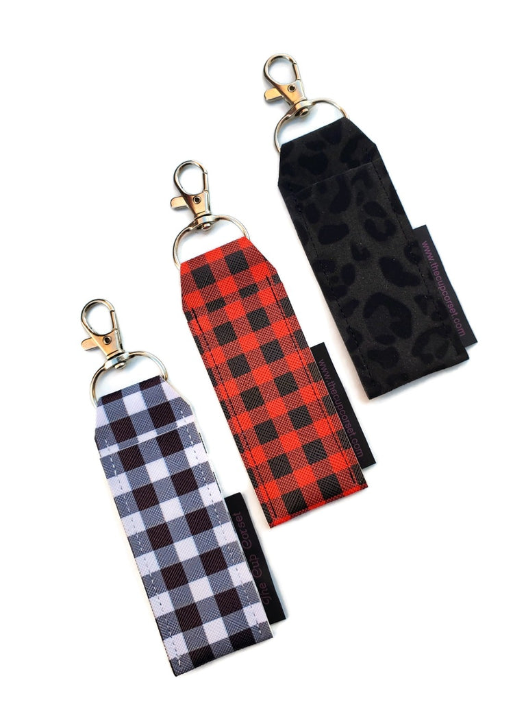 Buffalo Plaid and Leopard Lip Balm Holders