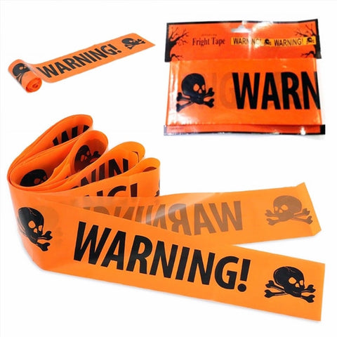 Danger warning line Halloween decoration