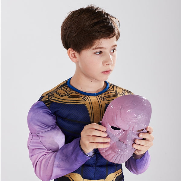 Avengers Thanos muscle kids costume + mask
