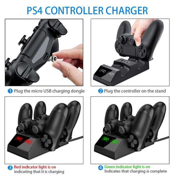 PS4 controller doble charger