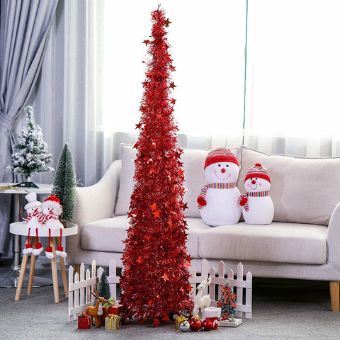 Different retractable Christmas tree
