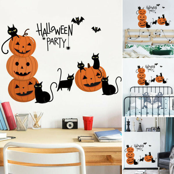Halloween pumpkins with cat (Children´s stickers)