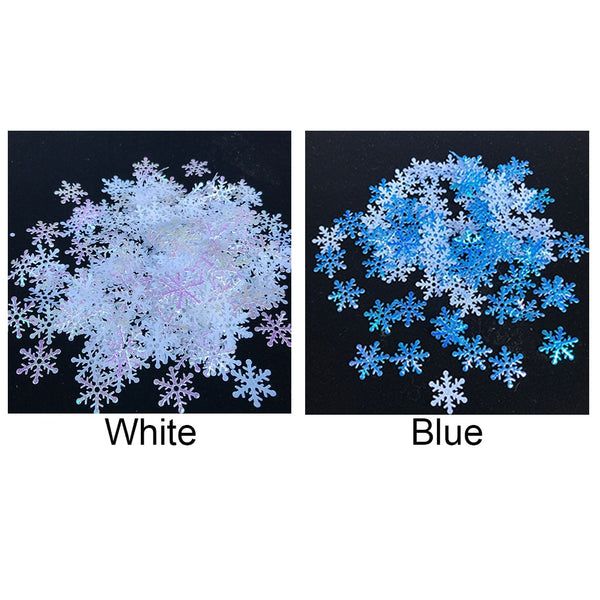 Christmas snow shape tabletop confetti